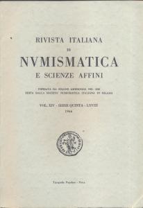 D/ Rivista Italiana di Numismatica. Milano, 1966. Pp.199, ill. e tavv. nel testo. ril. ed.