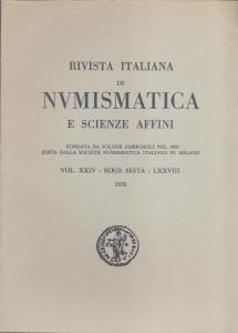 obverse: Rivista Italiana di Numismatica. Milano, 1976. Pp.320, ill. e tavv. nel testo. ril. ed.