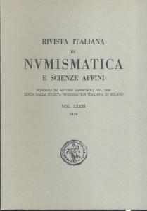 obverse: Rivista Italiana di Numismatica. Milano, 1979. Pp. 311, ill. e tavv. nel testo. ril. ed.