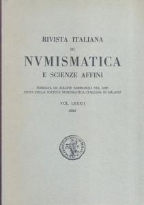 obverse: Rivista Italiana di Numismatica. Milano, 1980. Pp. 319, ill. e tavv. nel testo. ril. ed.