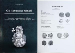 obverse: FUSCONI Giorgio. Gli antiquiores romani. Le monete coniate dalla zecca di Roma da Adriano I (772-795) a Benedetto VII (975-983). Pavia, 2012 Cartonato, pp. 340, ill. nel testo