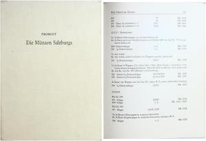 obverse: PROBSTZ Günther. Die Münzen Salzburgs. Basel/Graz, 1959. Legatura editoriale, pp. 286 S., tavv. 27