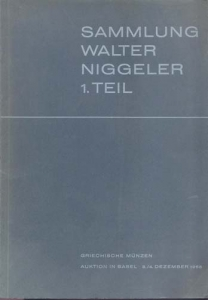 D/ BANK LEU AG & MUNZEN UND MEDAILLEN AG. Basel 3-4/12/1965. Sammlung Walter Niggler I Teil. Griechische munzen. Brossura, lotti 554, tavv. 32