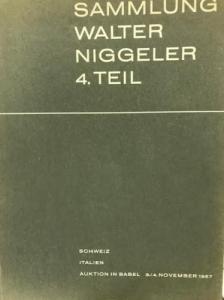 D/ BANK LEU AG & MUNZEN UND MEDAILLEN AG. Asta Basel 3-4/11/1967. Sammlung Walter Niggler IV Teil. Schweiz. Italien. Brossura, lotti 250, tavv. 24