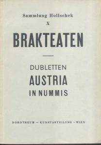 D/ DOROTHEUM. Asta Wien 19-20/11/1959: Sammlung Hollschek X: Brakteaten. Dubletten Austria in Nummis. Brossura, lotti 5208, tavv. 8