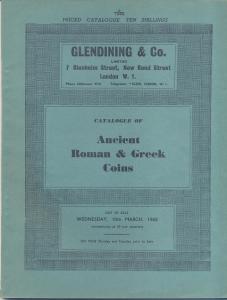 obverse: GLENDINING & Co. – Catalogue of Ancient Roman & Greek Coins. London, 10 – March – 1965. Pp. 93, nn. 299, tavv. 9. Ril. editoriale, buono stato, importante vendita. contiene la collezione Rothschild per le monete della Palestina. SPRING 24