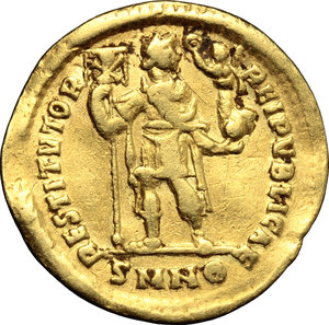 Valentinian I (364-375).. AV Solidus, Nicomedia mint, 367-375