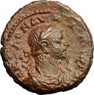 D/ Aurelian with Vabalathus (270-275). AE Tetradrachm, Alexandria mint, Egypt, 271-272.  D/ Bust of Aurelian right, laureate, draped. R/ Bust of Vabalathus right, laureate. draped. Dattari 5424. AE. g. 9.63  mm. 22.00   Brown patina. VF/About VF.