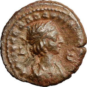 R/ Aurelian with Vabalathus (270-275). AE Tetradrachm, Alexandria mint, Egypt, 271-272.  D/ Bust of Aurelian right, laureate, draped. R/ Bust of Vabalathus right, laureate. draped. Dattari 5424. AE. g. 9.63  mm. 22.00   Brown patina. VF/About VF.
