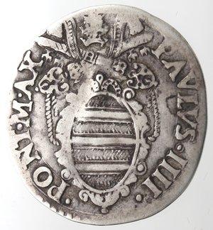 obverse: Ancona. Paolo IV. 1555-1559. Giulio. Ag.