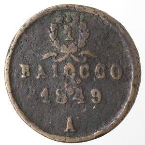 reverse: Ancona. Repubblica Romana. 1848-1849. Baiocco 1849. Ae.