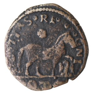 reverse: L Aquila. Ferdinando I d Aragona. 1458-1494. Cavallo. Ae.