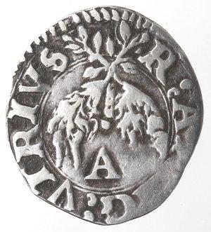obverse: L Aquila. Carlo V. 1516-1554. Cinquina. Ag.