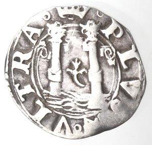 reverse: L Aquila. Carlo V. 1516-1554. Cinquina. Ag.