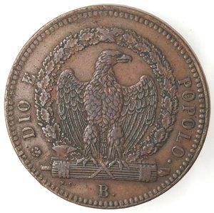 obverse: Bologna. Repubblica Romana. 1848-1849. 3 baiocchi 1849. Ae.
