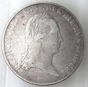 obverse: Milano.Francesco II d Asburgo-Lorena, Imperatore e Duca di Milano. 1792-1796.Crocione 1794.Ag.
