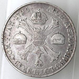 reverse: Milano.Francesco II d Asburgo-Lorena, Imperatore e Duca di Milano. 1792-1796.Crocione 1794.Ag.