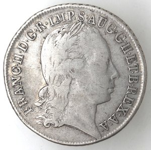 obverse: Milano.Francesco II d Asburgo-Lorena, Imperatore e Duca di Milano. 1792-1796.30 soldi 1794.Ag.
