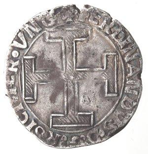 reverse: Napoli. Ferdinando I. 1458-1494. Coronato senza sigle. Ag.