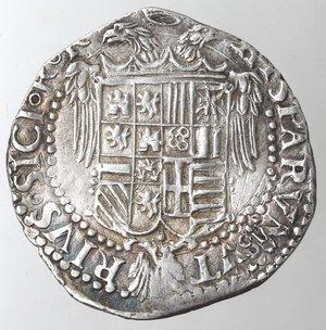 reverse: Napoli. Carlo V. 1516-1554. Tarì sigla R, Ludovico Ram m.d.z.. 1528-1546. Ag.