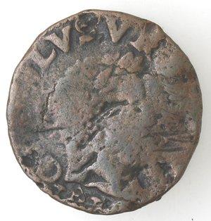 obverse: Napoli. Carlo V. 1516-1554. Da 3 cavalli con croce potenziata e fiamme. AE.