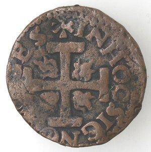 reverse: Napoli. Carlo V. 1516-1554. Da 3 cavalli con croce potenziata e fiamme. AE.
