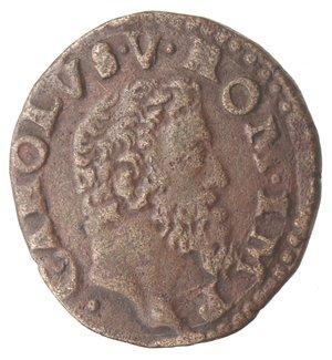 obverse: Napoli. Carlo V. 1516-1556. Da 2 cavalli con corona. AE.
