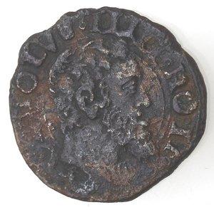 obverse: Napoli. Carlo V. 1516-1554. Da 2 cavalli con corona. AE.