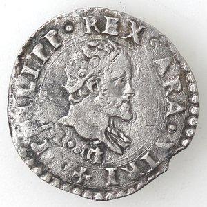 obverse: Napoli. Filippo II. 1554-1598. Mezzo carlino s.d. Ag.