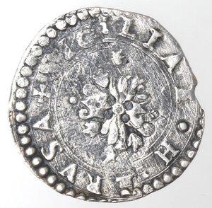reverse: Napoli. Filippo II. 1554-1598. Mezzo carlino s.d. Ag.