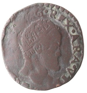 obverse: Napoli. Filippo II. 1554-1598. Tornese 1585. Ae.