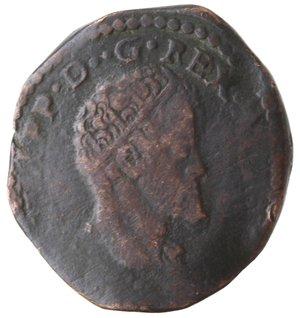obverse: Napoli. Filippo II. 1554-1598. Tornese 1593. AE.