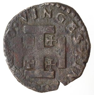 reverse: Napoli. Filippo II. 1554-1598. Da tre Cavalli Sd. Sigla IAF dietro la testa. AE.