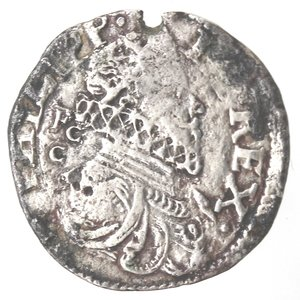 obverse: Napoli.Filippo III. 1598-1621. Carlino 1621. Ag.