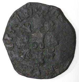 obverse: Napoli. Filippo III. 1598-1621. Tornese 1609 con acciarino. Ae.
