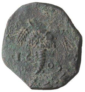 reverse: Napoli. Filippo III. 1598-1621. Tornese 1609 con acciarino. Ae.