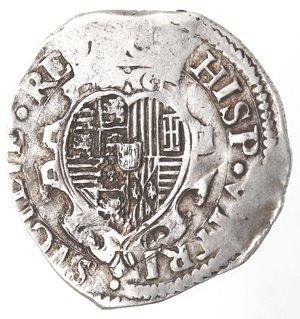 reverse: Napoli. Filippo IV. 1621-1665. Tarì 1622. Ag.