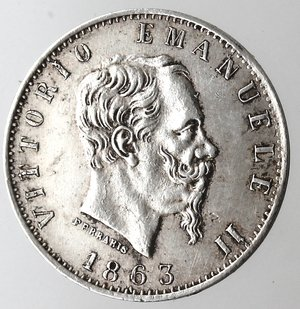D/ Casa Savoia. Vittorio Emanuele II. 1861-1878. 20 centesimi 1863 Valore Milano. Ag. Gig. 84. BB+/qSPL.