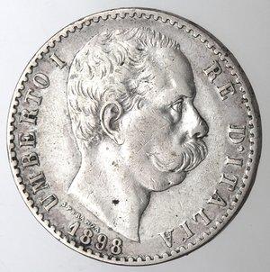 D/ Casa Savoia. Umberto I.1878-1900.2 lire 1898. Ag.Gig 33. BB.R.