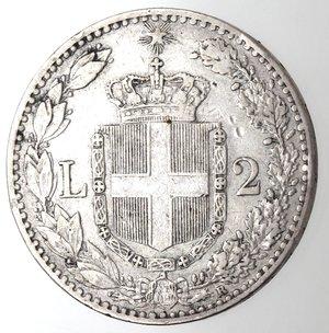 R/ Casa Savoia. Umberto I.1878-1900.2 lire 1898. Ag.Gig 33. BB.R.