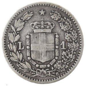 R/ Casa Savoia. Umberto I. 1878-1900. Lira 1884. Ag. Gig 36. qBB. NC.