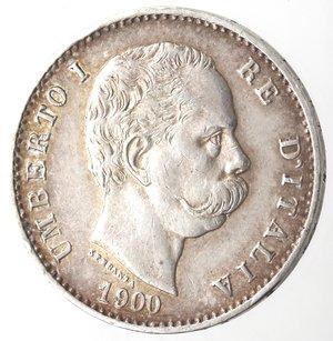 D/ Casa Savoia. Umberto I. 1878-1900. Lira 1900. Ag. Gig. 41. SPL+.