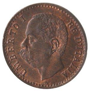 D/ Casa Savoia. Umberto I. 1878-1900. Centesimo 1895. Ae. Gig. 58. qFDC. Rame rosso.