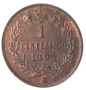R/ Casa Savoia. Umberto I. 1878-1900. Centesimo 1895. Ae. Gig. 58. qFDC. Rame rosso.