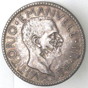 D/ Casa Savoia. Vittorio Emanuele III. 1900-1943. 20 lire 1928 Anno VI. Littore. MB. Gig. 44. Peso gr. 19,34. BB+. Falso d'epoca. NC.