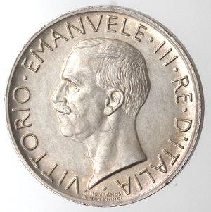 D/ Casa Savoia. Vittorio Emanuele III. 1900-1943. 5 lire 1930 Aquilino. Ag. Gig 77.  qFDC.