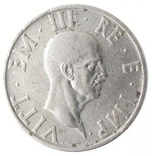 D/ Casa Savoia. Vittorio Emanuele III. 1900-1943.2 lire 1936 anno XIV Impero. Ni. Gig. 118.BB. R.