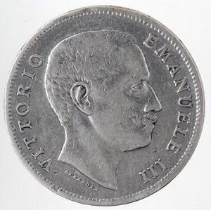 D/ Casa Savoia. Vittorio Emanuele III.1900-1943.Lira 1906 Aquila Sabauda. Ag. Gig. 130.BB.