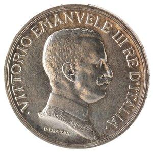 D/ Casa Savoia. Vittorio Emanuele III. 1900-1943. Lira 1916. Quadriga Briosa. Ag. Gig 138. SPL. Tracce di lucidatura. R.