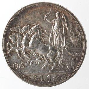 R/ Casa Savoia. Vittorio Emanuele III. 1900-1943. Lira 1916. Quadriga Briosa. Ag. Gig 138. SPL. Tracce di lucidatura. R.